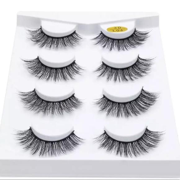 21b3850855f Makeup | Four 3d Mink Handmade False Lash Set Wapplicator | Poshmark